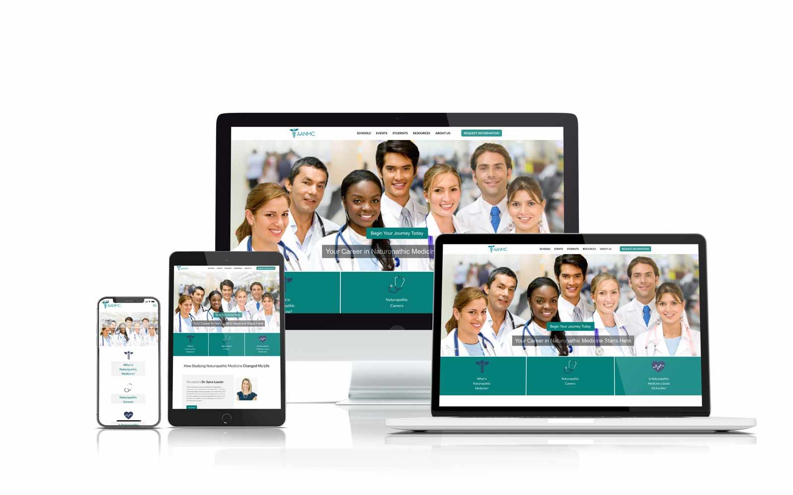 AANMC responsive website design