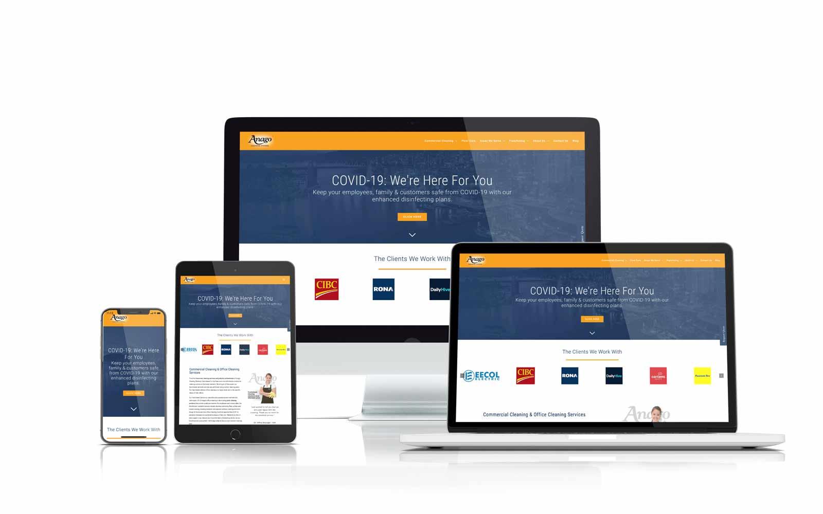 Anago website case study