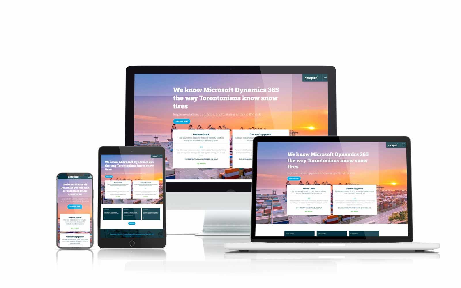Catapult ERP Responsive website design