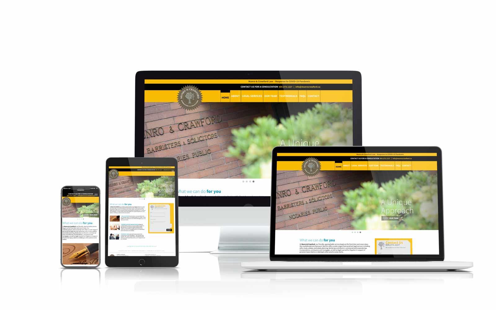 Monro Website design case study