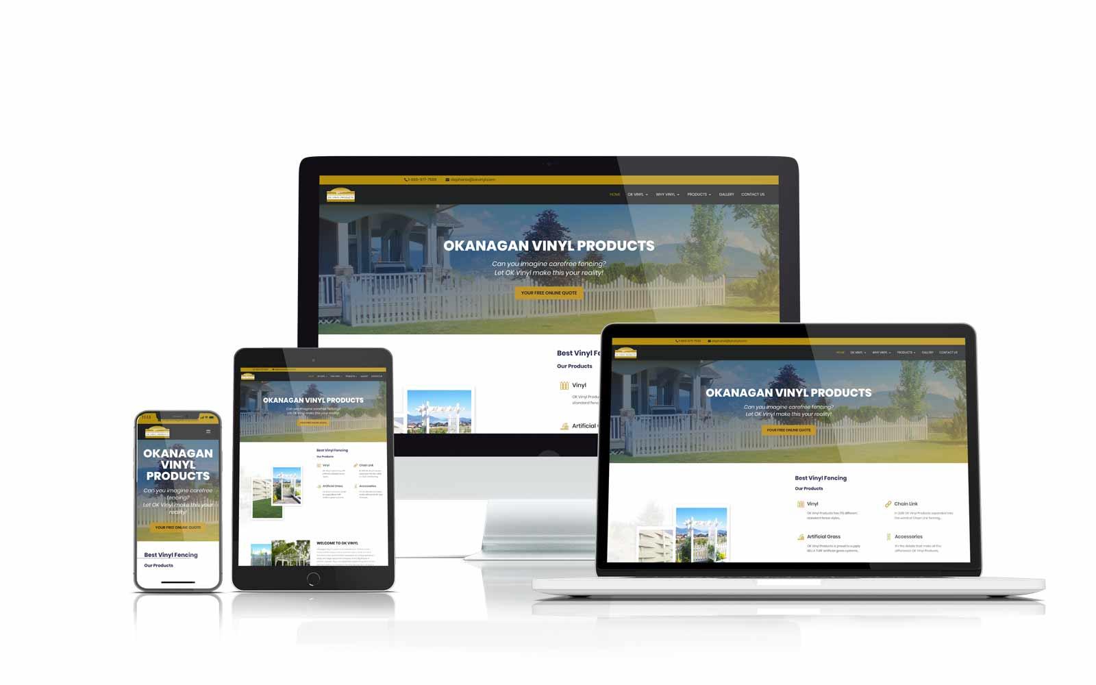 ok vinyl fencing website design