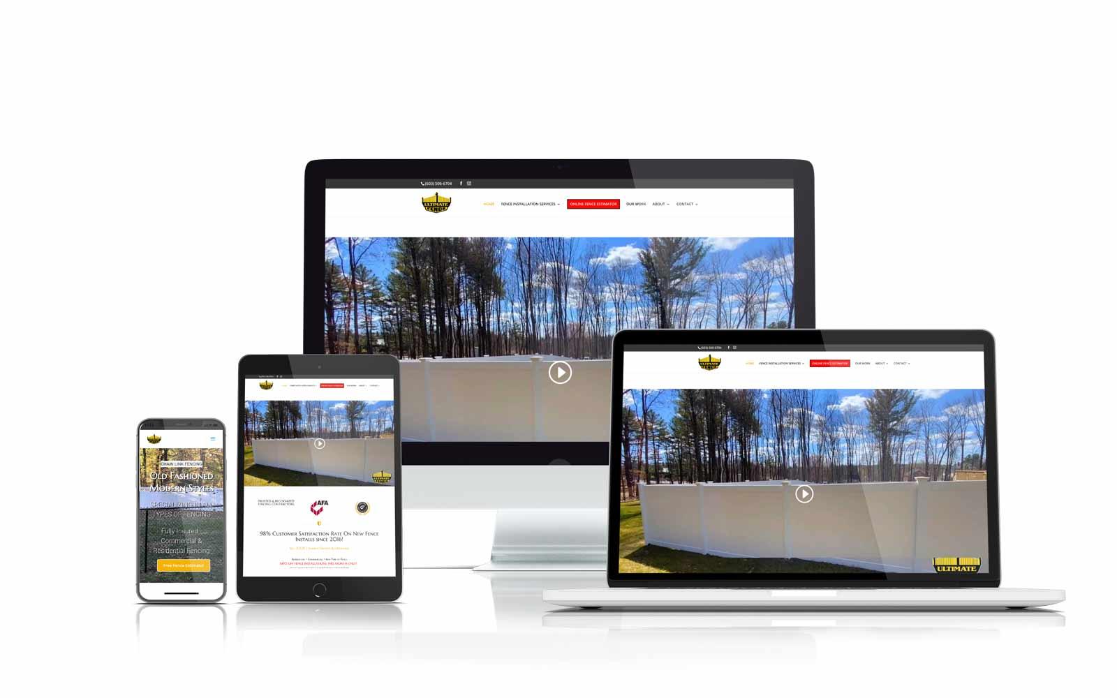 Ultimate Fence Responsive Website Design Screenshot