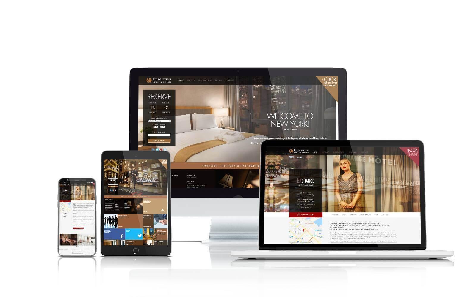 Executive Hotel website