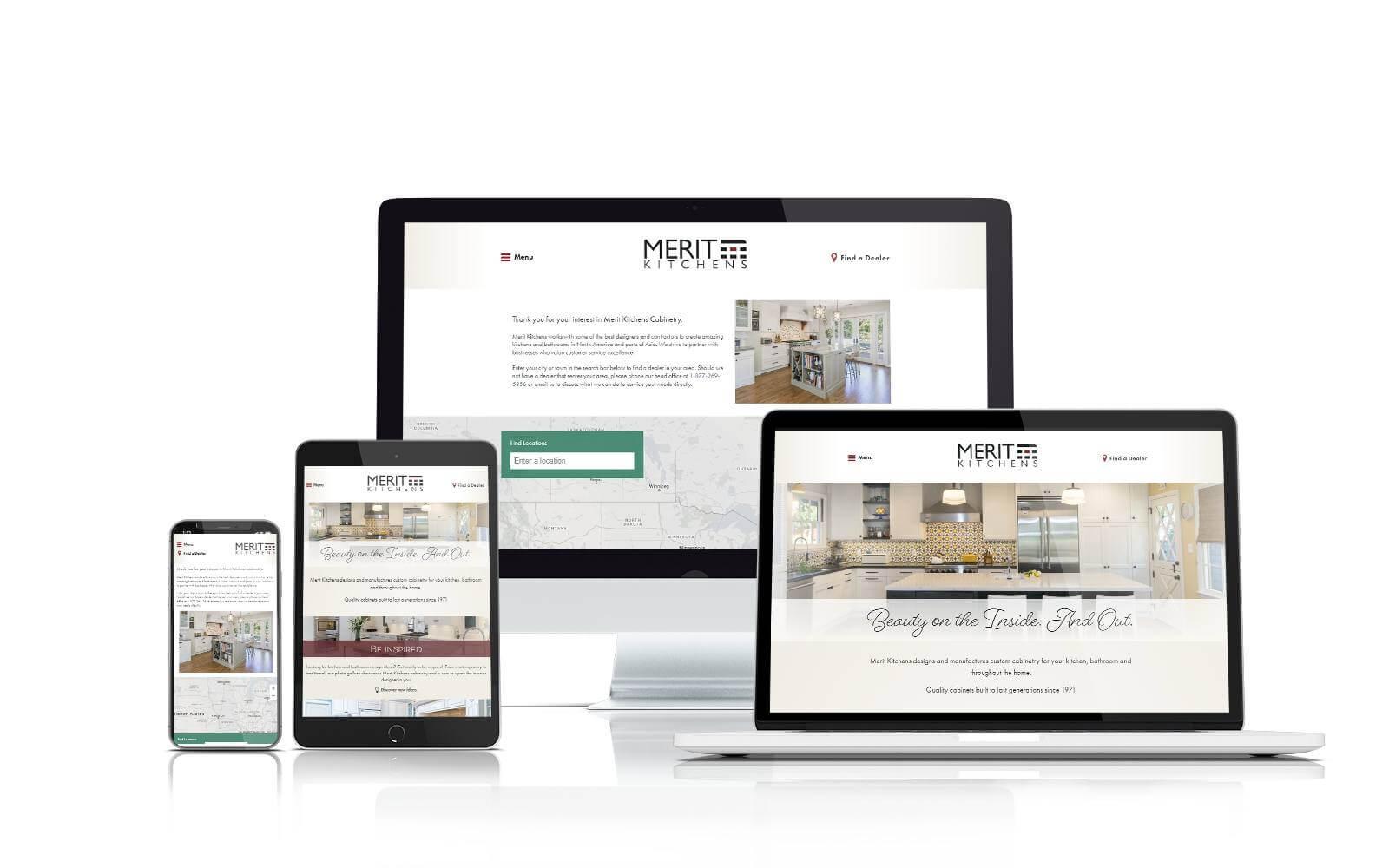 Merit Kitchens website