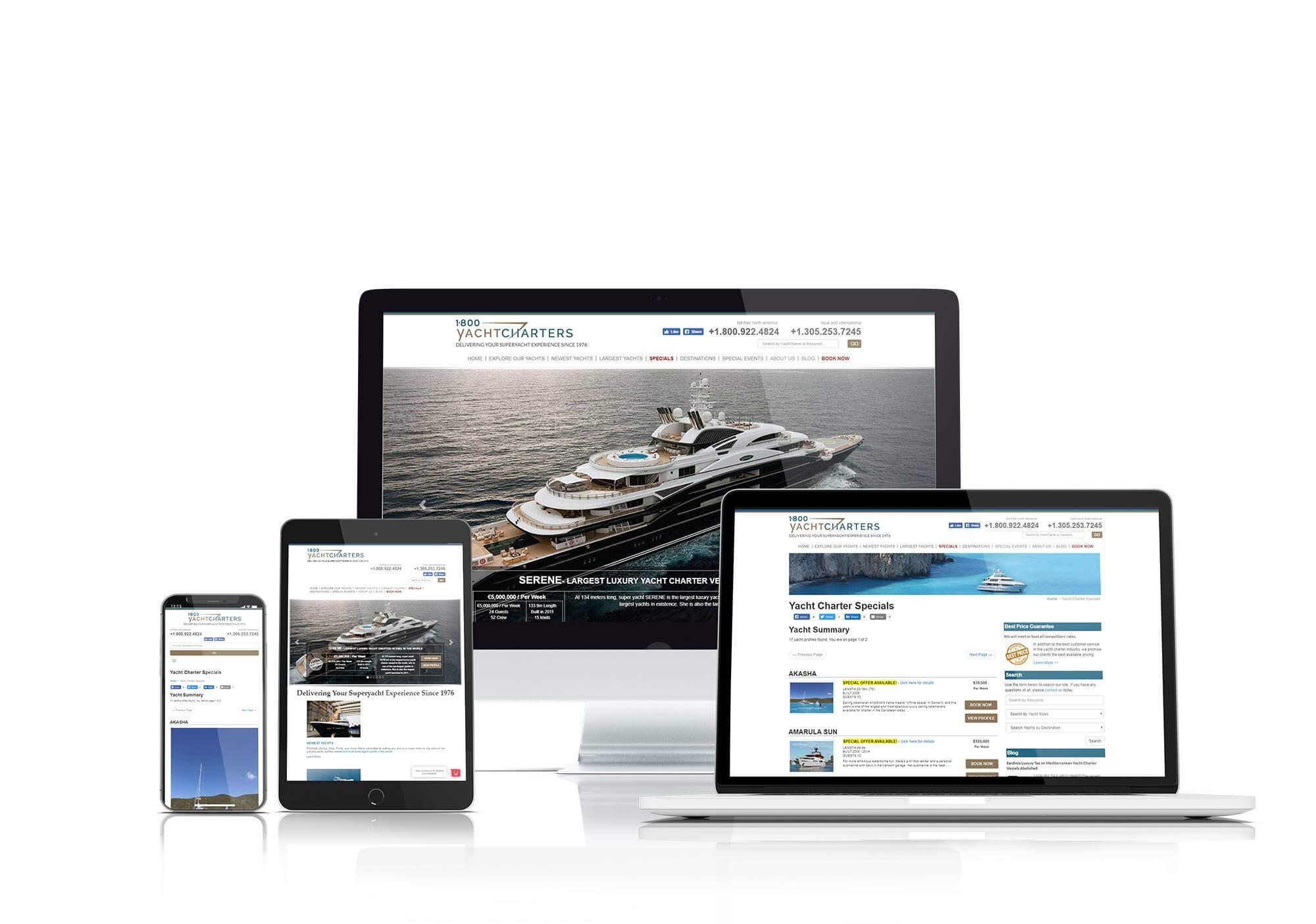 1800 Yacht Charters website