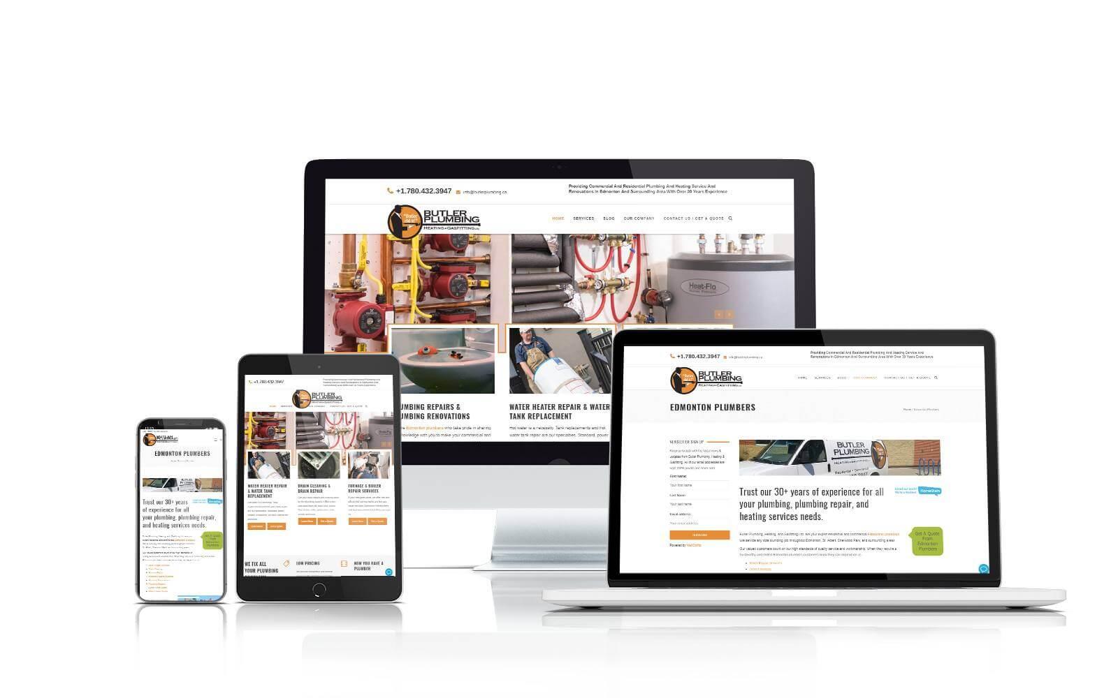 Butler Plumbing responsive website