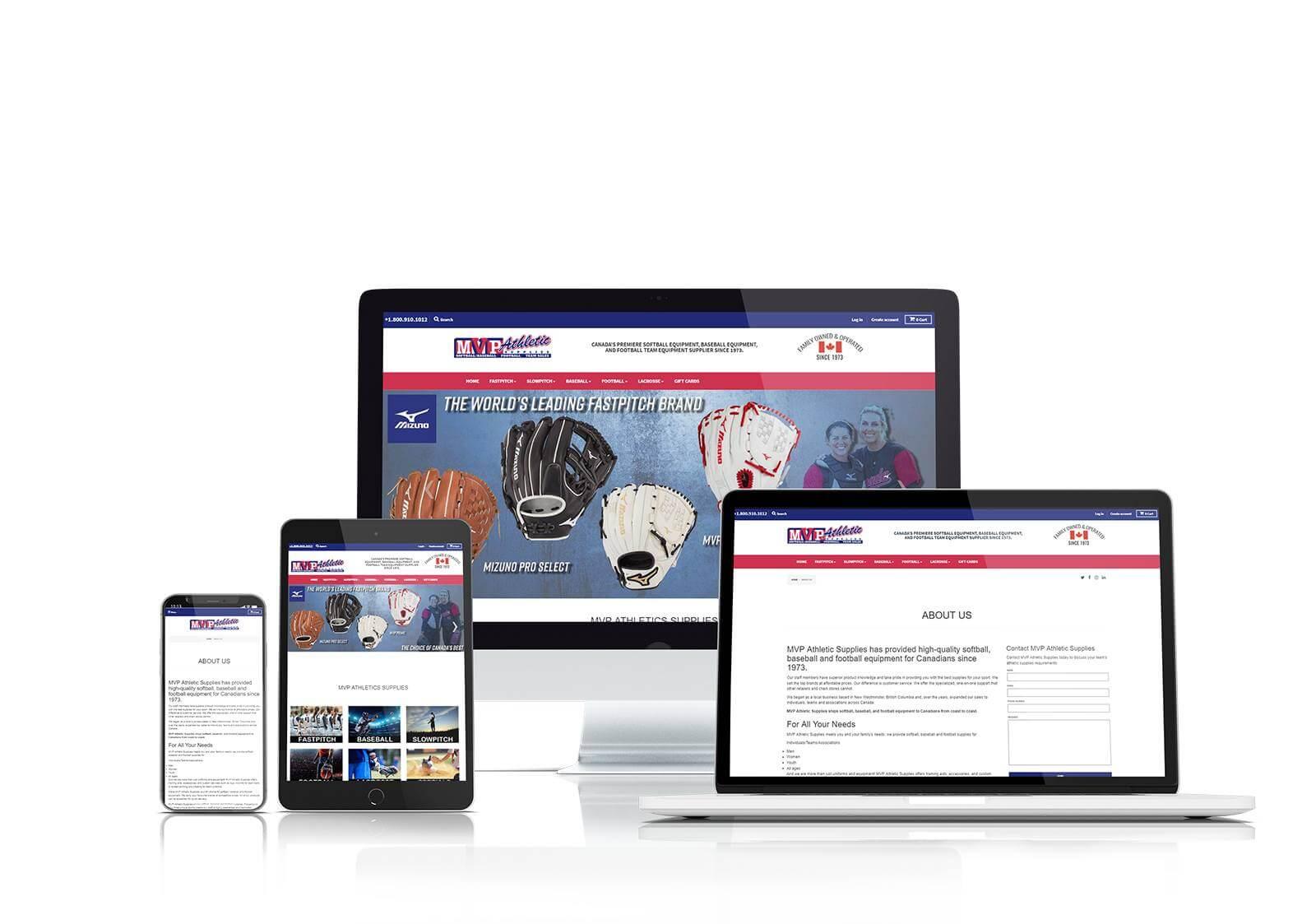 MVP Athletics responsive website