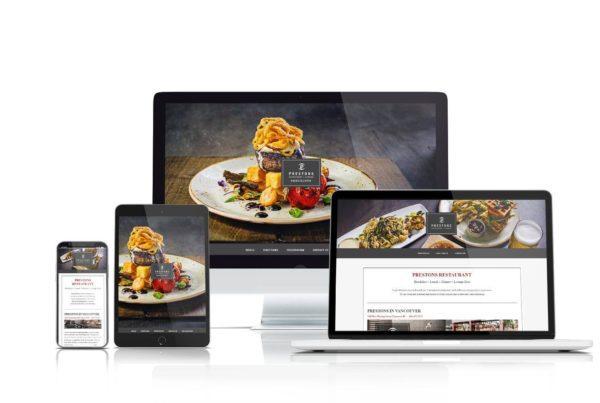 Prestons Restaurant website