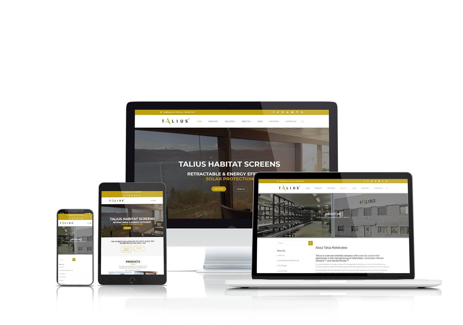 Talius responsive website design