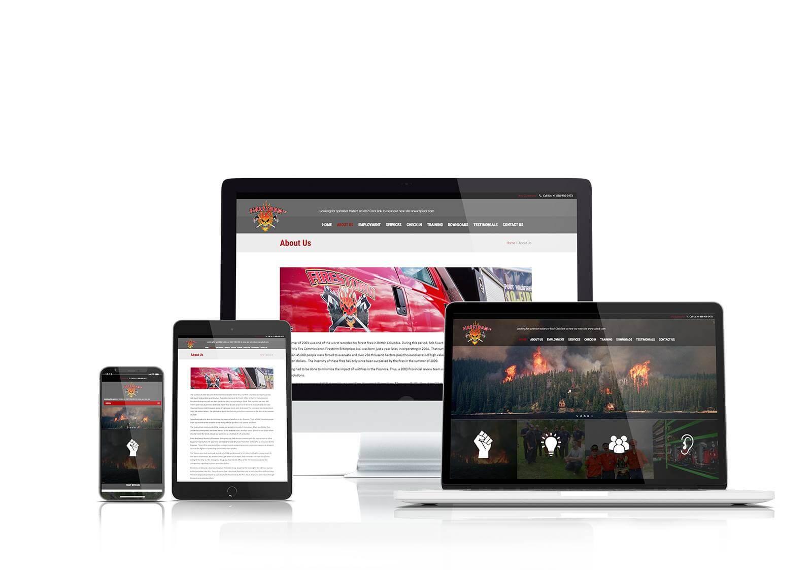 Firestorm responsive website design
