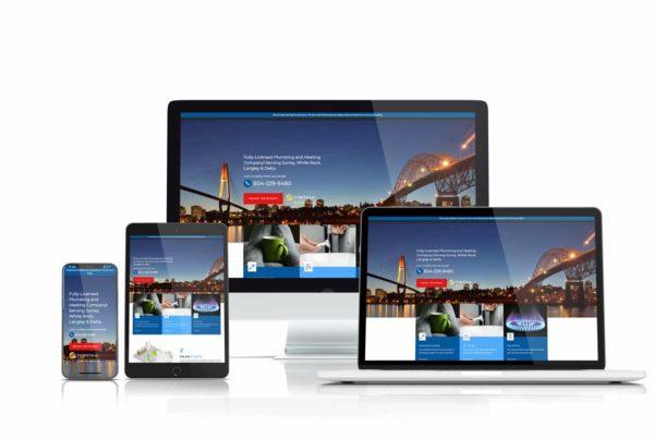 john sadler plumbing & heating responsive website case study image