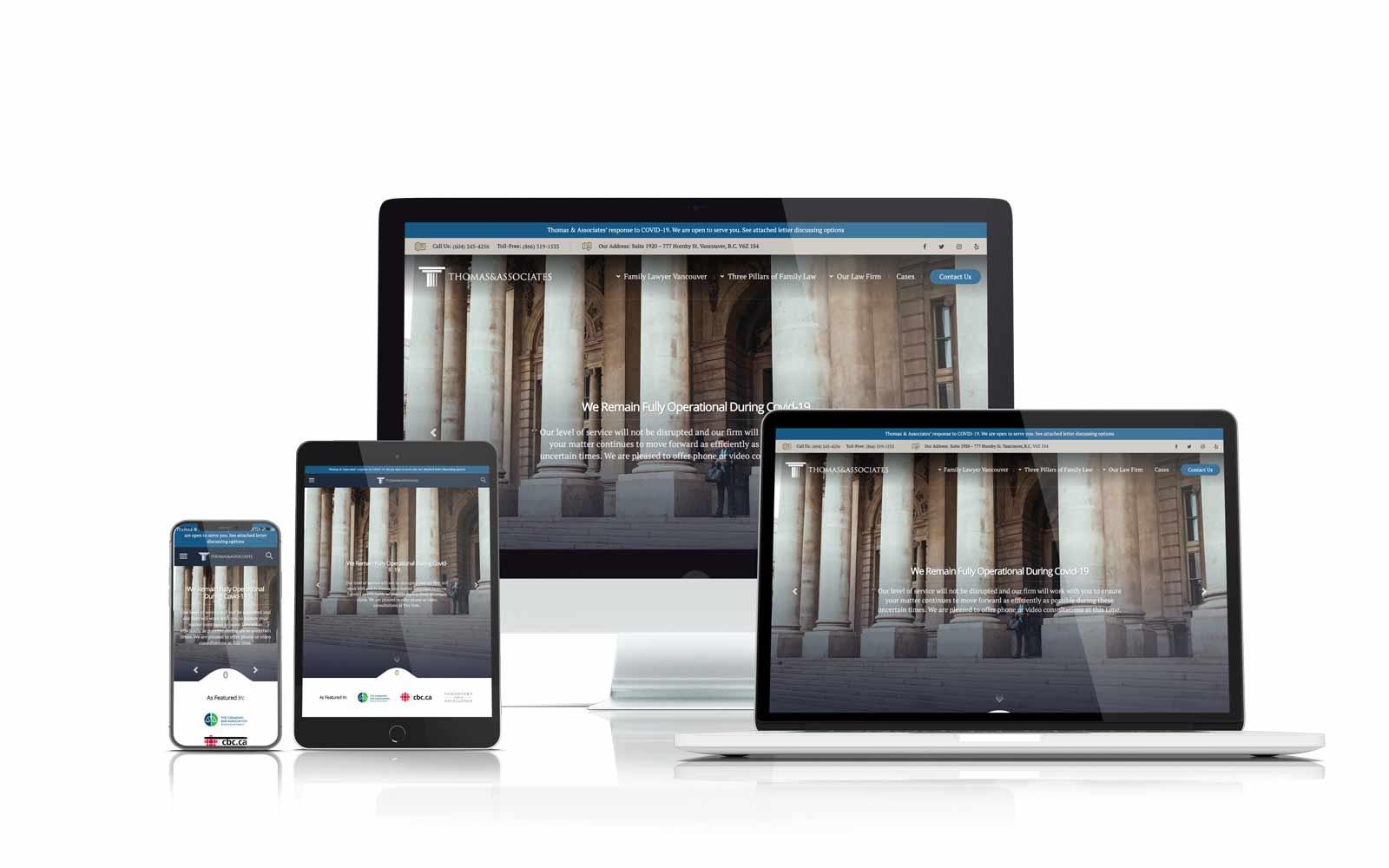 Thomas & Associates new responsive website
