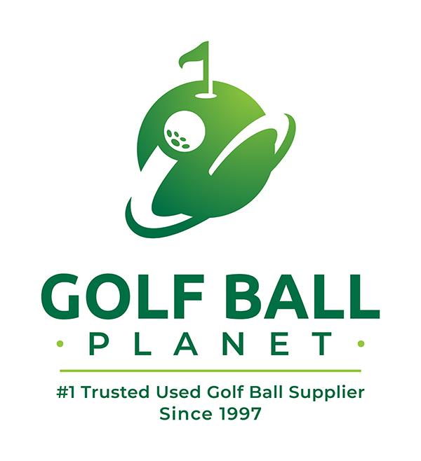 new golf ball planet logo
