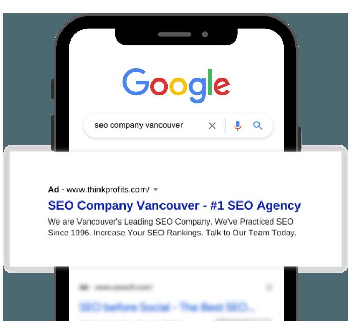 Google Search Ad displaying ThinkProfits